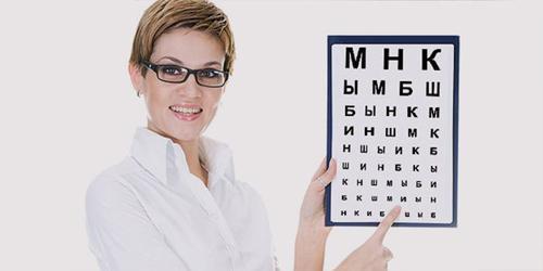 Как проверяют зрение таблицей Сивцева